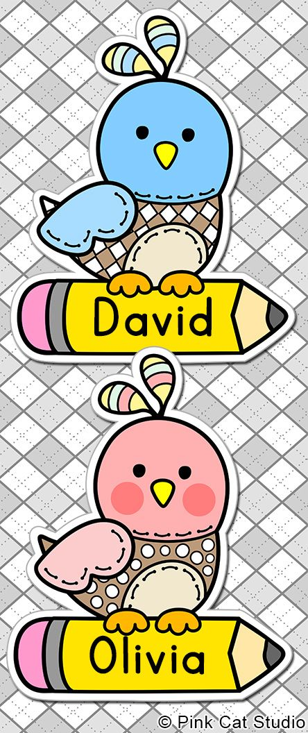 These fun boy and girl bird name tags and labels will look fantastic in your classroom! This set is so versatile because you can make any labels that you want with the included blank labels and editable PowerPoint file. These would make great bin or basket labels, job cards, flash cards and name tags. By Pink Cat Studio