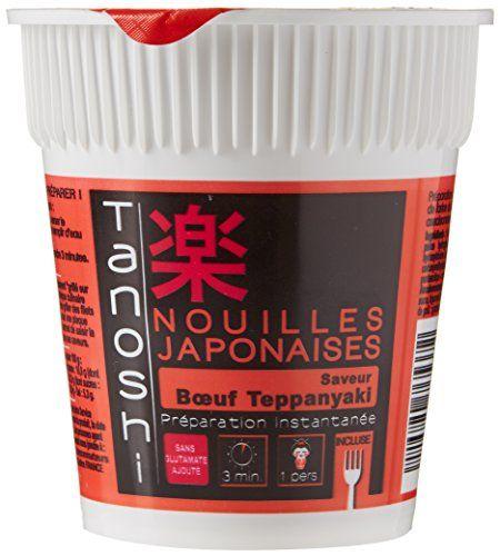 Tanoshi Nouilles Cup Bœuf Teppanyaki 65 g: Les nouilles instantanées Sans glutamate ajoute 1 Personne Cet article Tanoshi Nouilles Cup Bœuf…