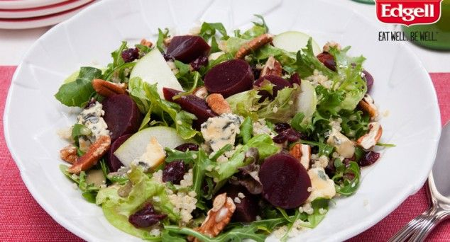 This ain't no everyday salad. Serve up something special with Cooking Quinoa's Cranberry, Apple and Pecan Quinoa Salad.   #summersalads #vegetarian #lunch
