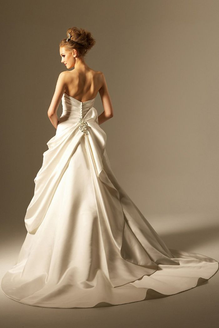 weddingdress ウェディングドレス Aラインドレス サテン オーダードレス専門店BlessDress ☎06-6147-2787 nfl-order-a005