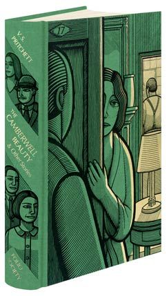 The Camberwell Beauty and Other Stories  V.S. Pritchett, Printed and blocked with a design by Clifford Harper.    Set in Goudy. Folio Society.