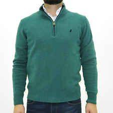 MCS Marlboro Classics Maglione con zip uomo verde jumper man 4760