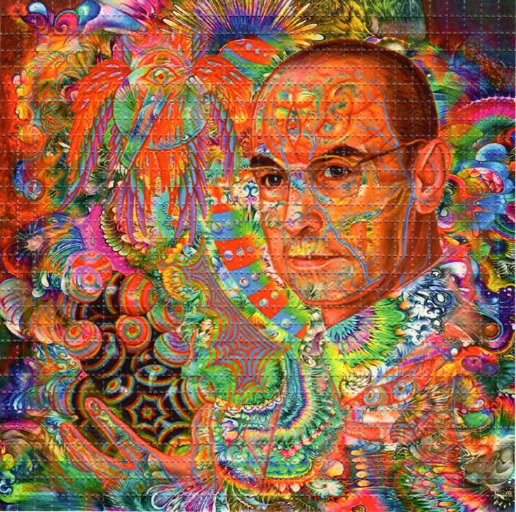 """El llamado """"blotter art"""" es el arte impreso en las estampillas de ácido, que por un lado sirve para saber la variedad de LSD y por otro demostrar la creatividad que nace a partir del trip."""