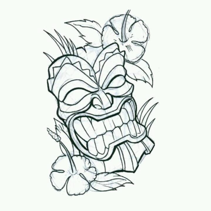 Hibiscus Flower Tattoo Stencil: 113 Best Tikis Images On Pinterest