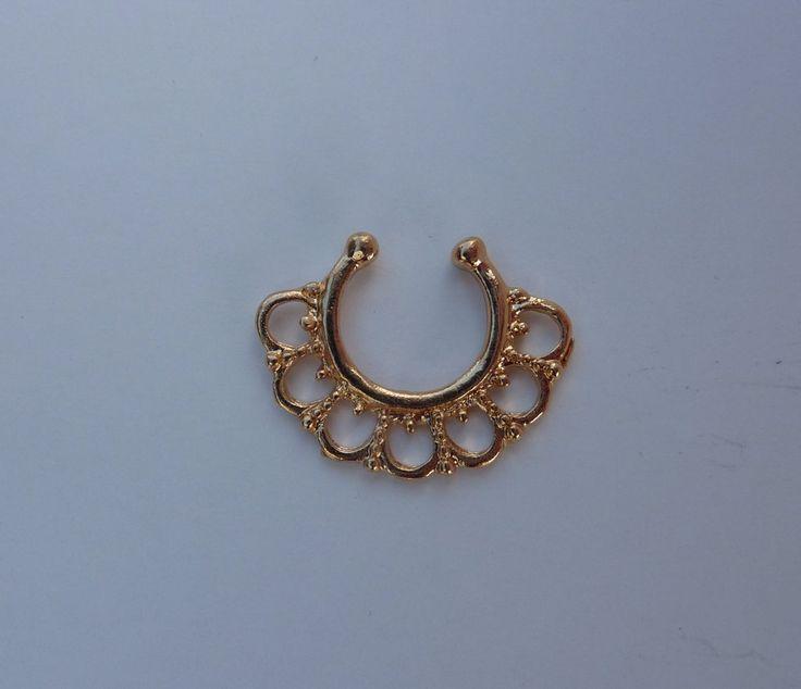 Gold Fake septum ring, fake titanium septum ring, gold fake nose ring, septum ring,  nose ring, fake nose ring, fake septum ring, G4