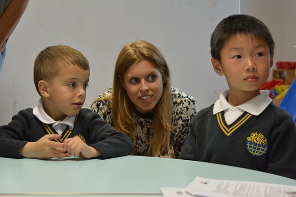 Princess Beatrice told pupils of Bolingbroke Academy and the ARK Globe Academy in London that dyslexia should never hold them back while on a visit on April 24, 2014.