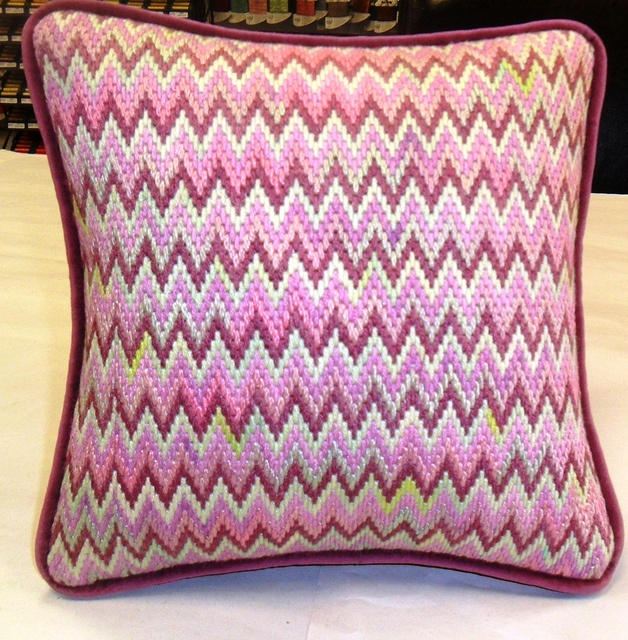 bargello pillow by Gone Stitching1, via Flickr