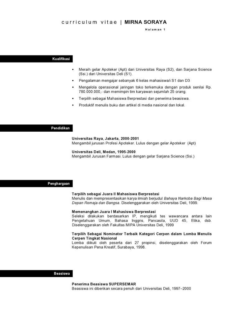 Contoh Application Letter Dalam Bahasa Melayu