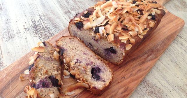 Blueberry Banana Bread, gluten, sugar and dairy free. So delicious!