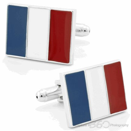 Flag of France Cufflinks, Black Friday Sale from Cufflinksman