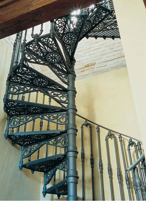 Elegant spiral staircases | Albert cast iron spiral stair by Staircase Solutions