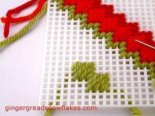 Plastic Canvas: Moorish stitch by gingerbread_snowflakes, via Flickr
