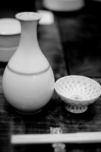 Japanese hot sake