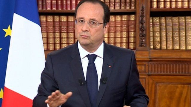 BBC News - Francois Hollande: Eurosceptic vote 'must be confronted'