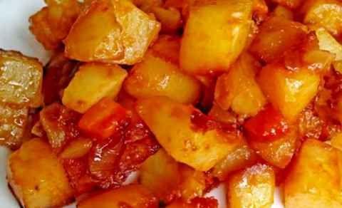 овощное рагу с картошкой и кабачком
