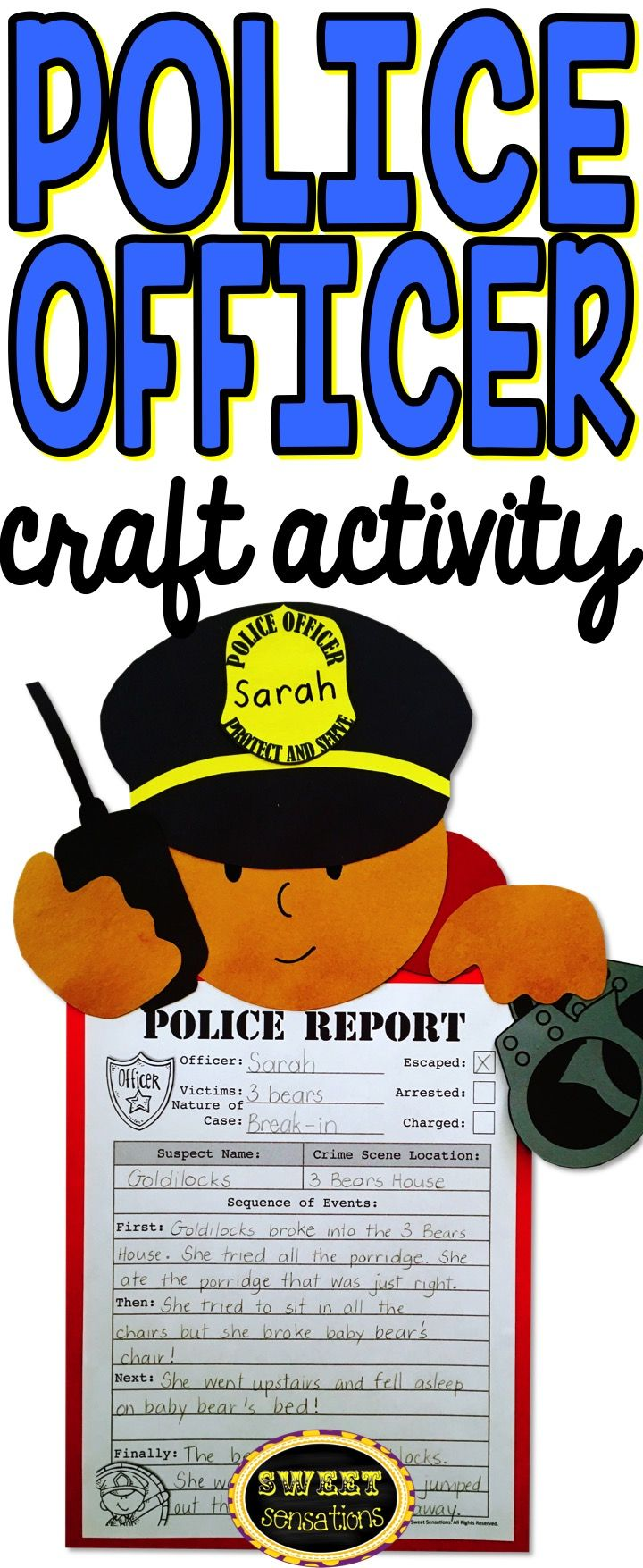 Police Officer Community Helper craft activity