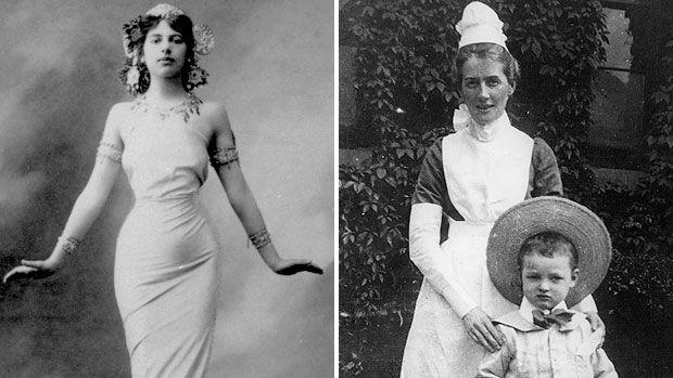 CBC Ideas = The Vixen & the Virgin:  Mata Hari, 1905 (Hulton Archive/Getty) & Edith Cavel, 1903 (Hulton Archive/Getty)