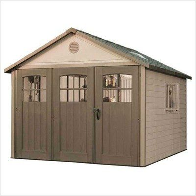 Lifetime 11 x 21 ft. Outdoor Storage Shed with Tri Fold Doors For Sale https://garagestorageusa.info/lifetime-11-x-21-ft-outdoor-storage-shed-with-tri-fold-doors-for-sale/