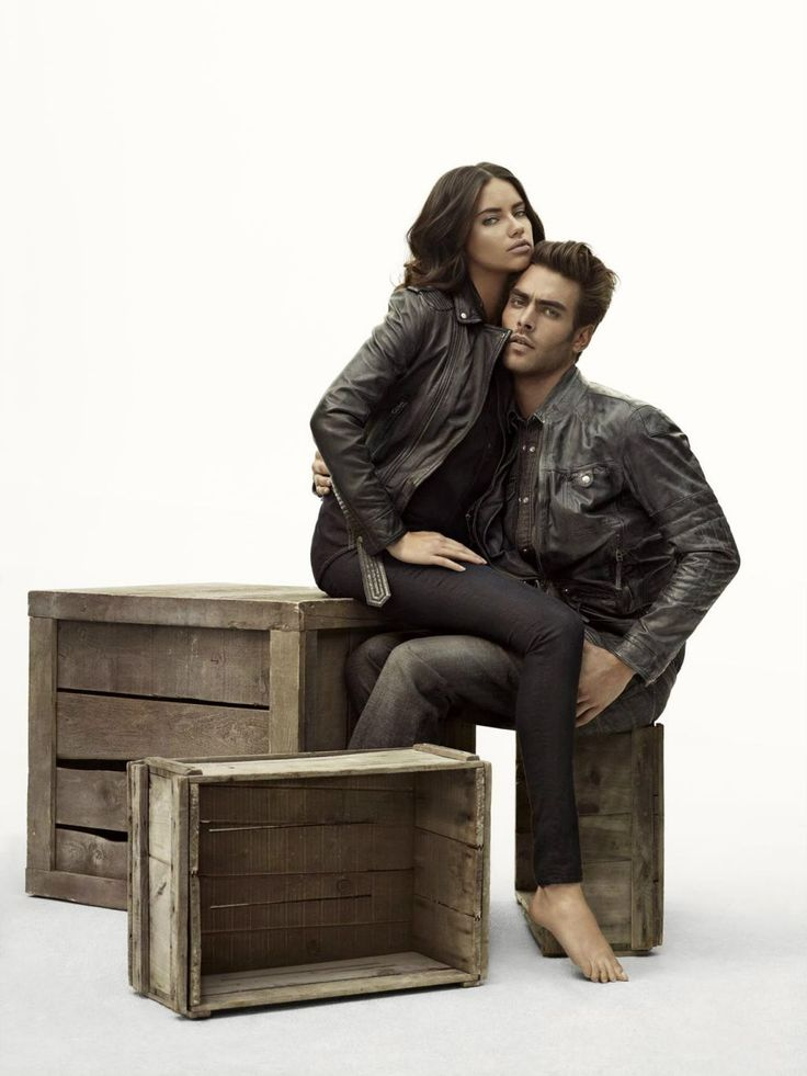 Adriana Lima and Jon Kortajarena for Mavi