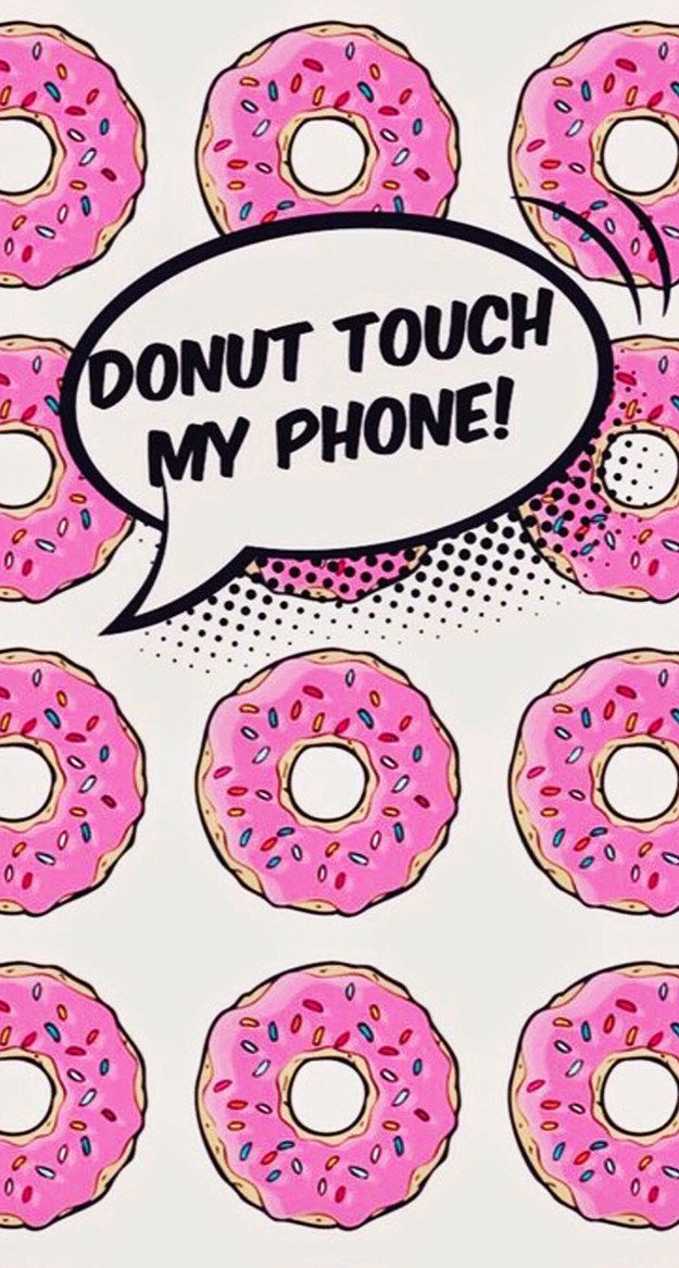 Or these slightly more aggressive donuts: | 28 Free Phone Backgrounds That'll Totally Brighten Your Day