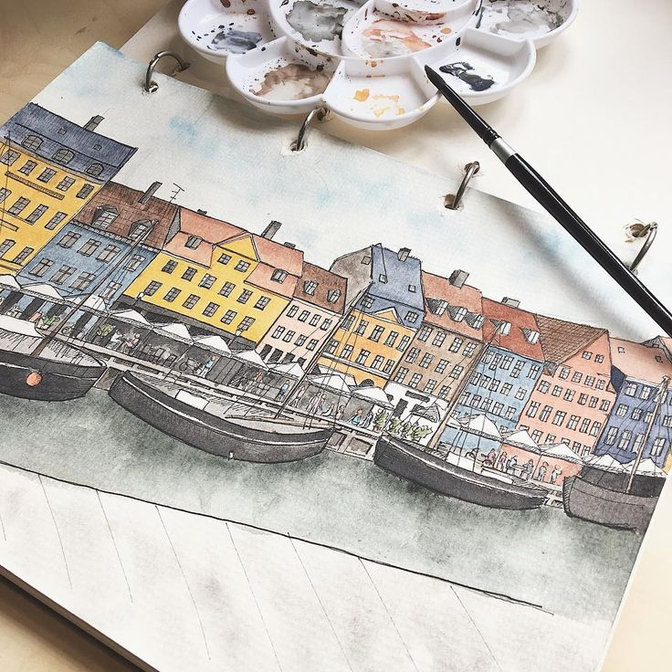 Happy Monday! Mega throwback drawing of one of my favourite scenes back in Copenhagen. I mean, the colours?!!😍  Anyway, today also marks the first day back in school for my Masters programme before finally graduating a year later. Papercranes will definitely still remain in operation but things may be slower for most parts of this year(i.e.: fewer pop-ups, less  frequent release of new designs) , so be patient and wait for us to be back in full swing at the end of this year okay? Thank you…