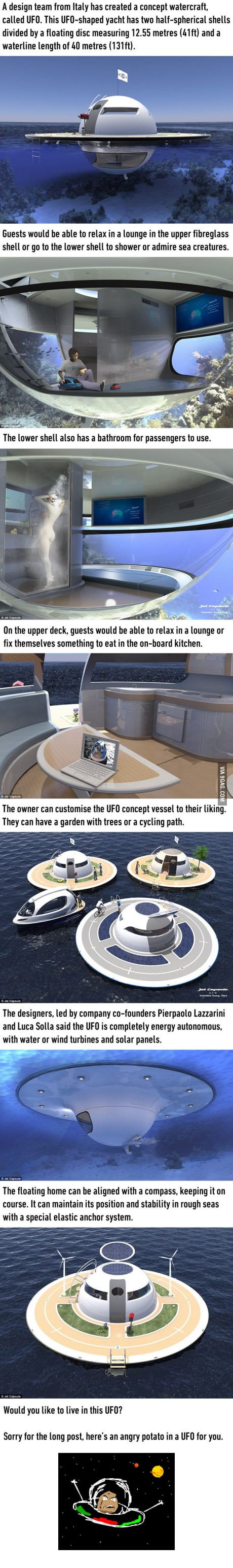 The newest UFO home concept that lets you live in the ocean