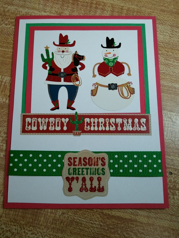 Western Christmas Cards Printable