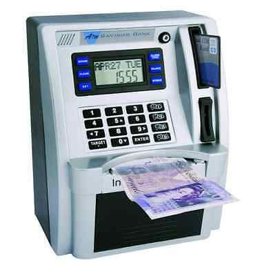 Atm bank kids #money box with alarm #clock and calendar #electronic new free p & ,  View more on the LINK: http://www.zeppy.io/product/gb/2/152250047565/