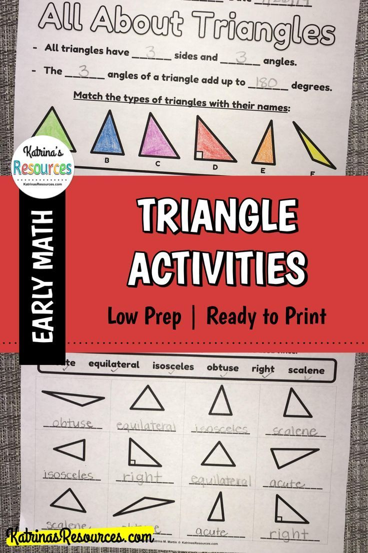 All About Triangles Printable Activity Pages Triangle Math Classifying Triangles Student Learning