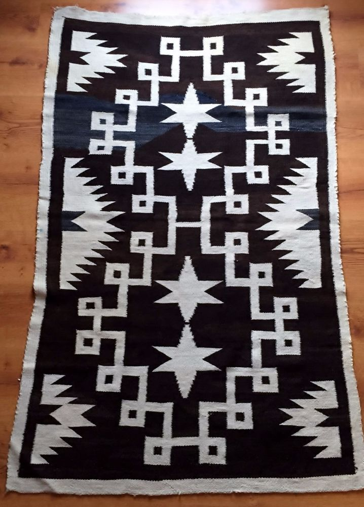 Circa1910 S Vintage Navaho Weaving 35 X 59 Antique Navajo Rug Textile Arizona