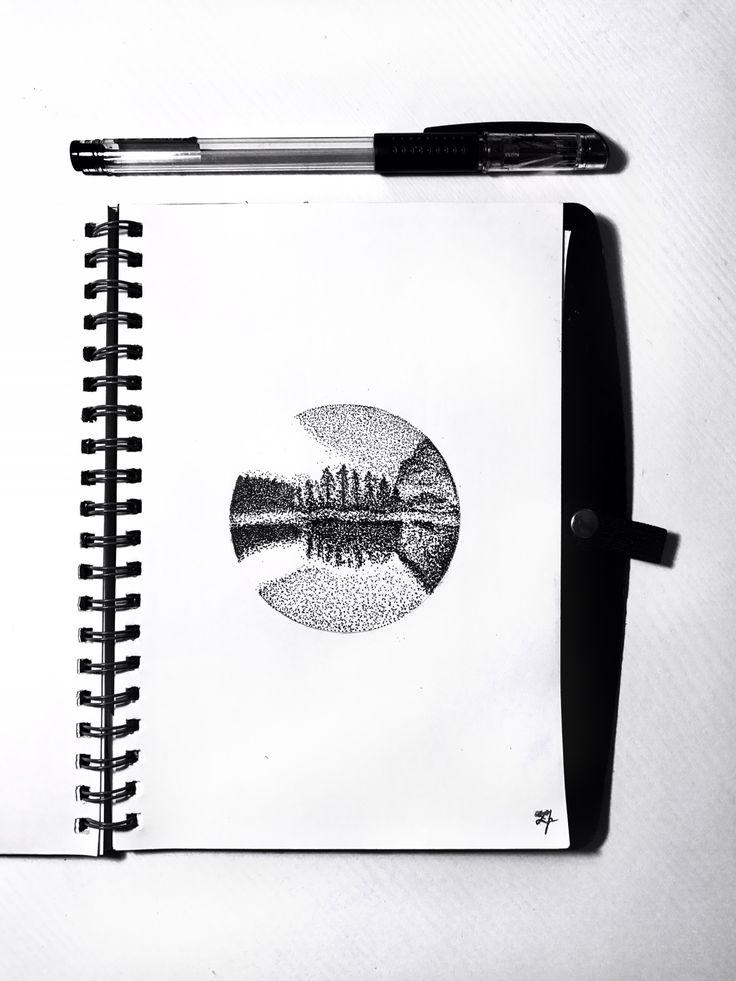 #mypins #picture #drawing #draw #sketch #sketchbook #скетч #скетчбук #рисование #dots #cozy #black