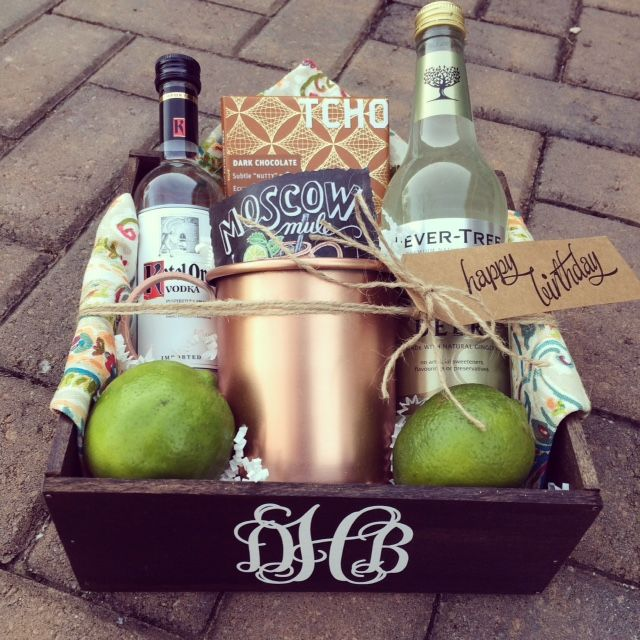 Monogrammed Moscow Mule gift set