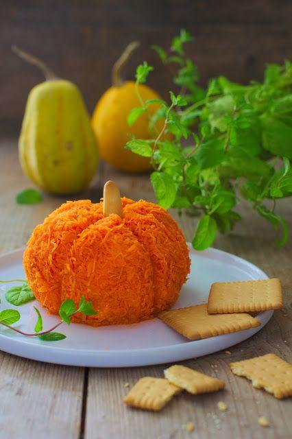 Cheesy Pumpkin Ball - Perfect Halloween Party Food