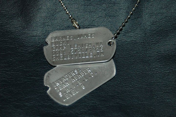 Headcanon-- When the Howling Commandos were formed, Steve took one of his tags off and gave it to Bucky. Bucky then gave him one of his.