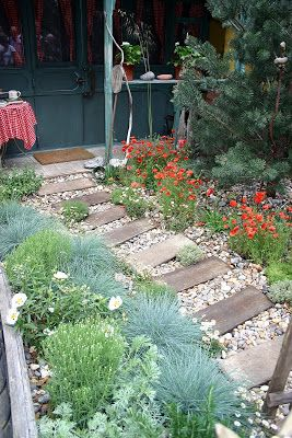 Coastal Garden Design pin by eliza murray on lang garden pinterest coastal gardens gardens and landscape designs Englisch Coastal Garden A Path Made From Driftwood Interspersed With Thymus And Erigeron