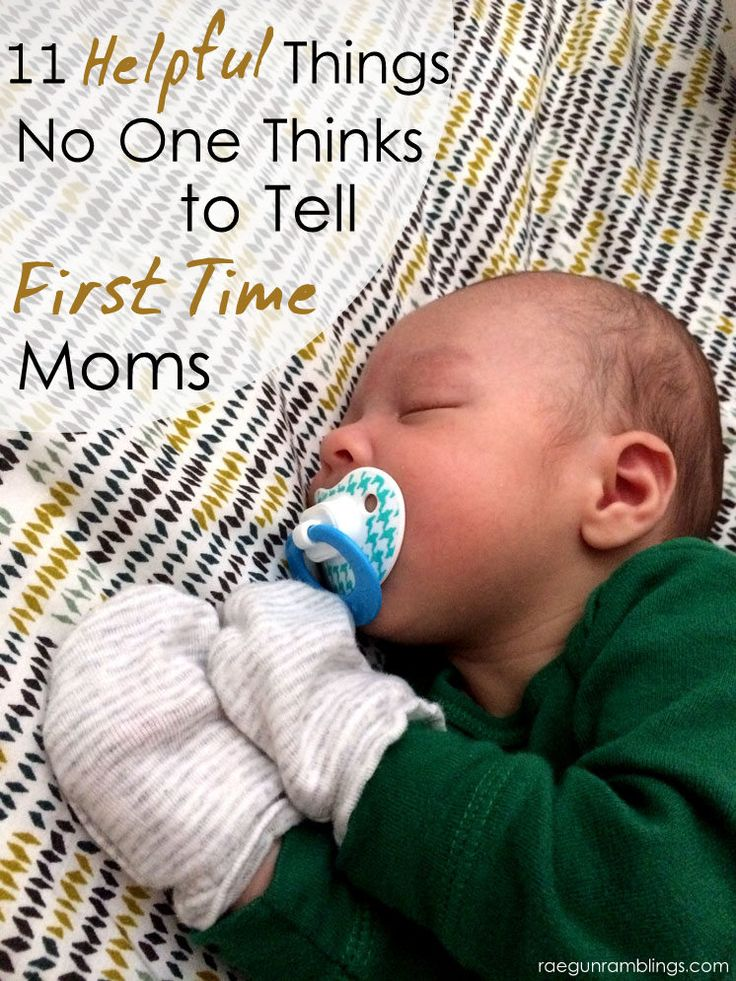 Great tips for first time moms.