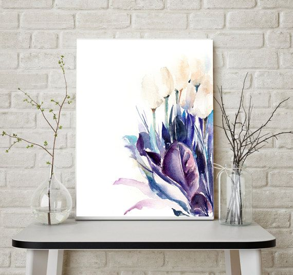 Tulips art print modern fine art print floral by CanotStopPrints