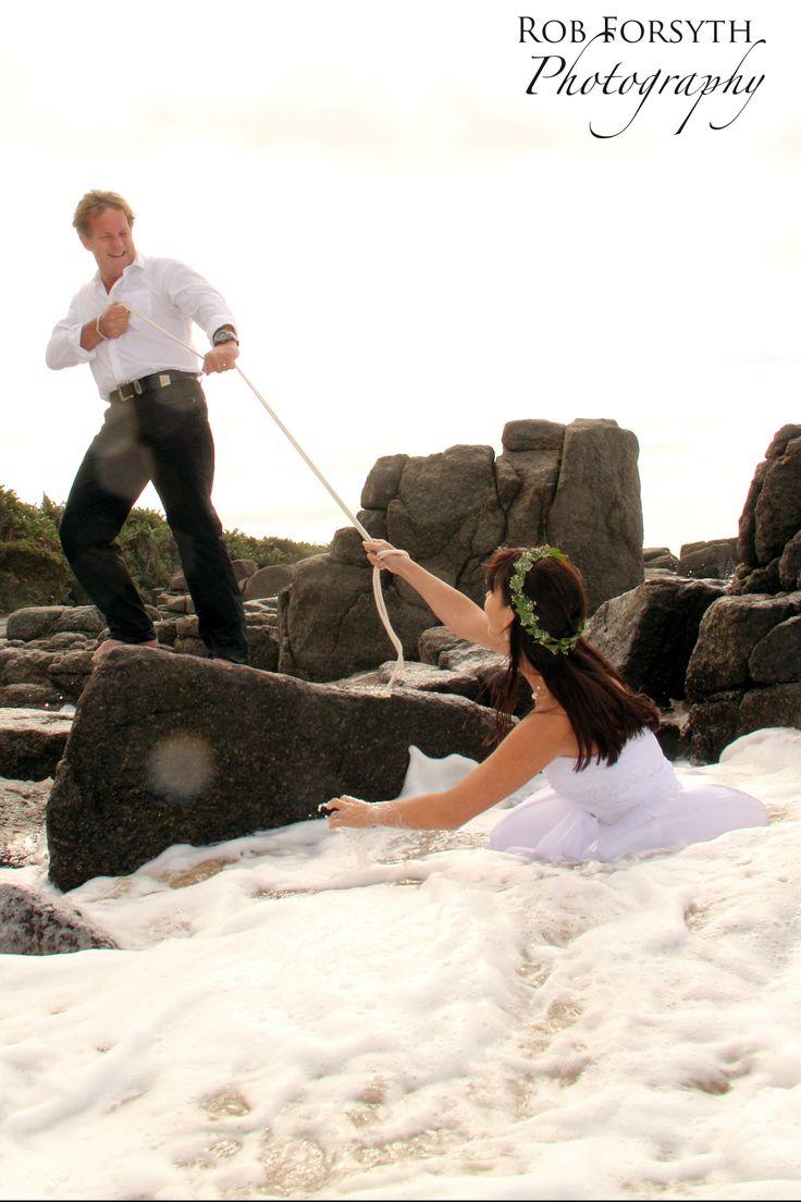 Wedding photography bride and groom shot. Trash the Dress Beach Ocean Shoot by Rob Forsyth Photography www.facebook.com/10fourphotography