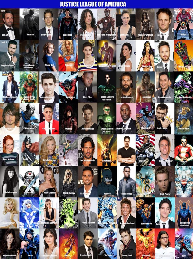 All currently cast members of the dc movie/tv universe and