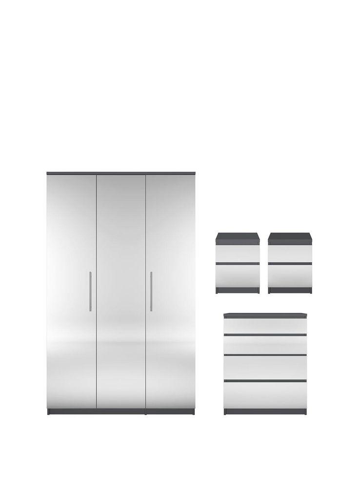 Best Mirrored Bedside Cabinets Ideas On Pinterest Mirror - Prague bedroom furniture set