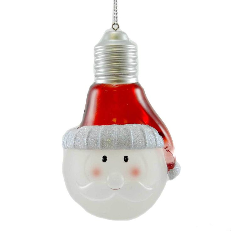 Holiday Ornament Christmas Lightbulb Glass Ornament Height: 3.75 Inches…