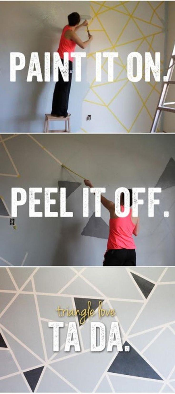 Puppenhaus Renovieren Tapeten : Foto: Geometrische Wandgestaltung mal ganz anders. Gew?nschtes Muster