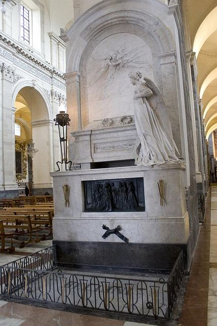 Tomb of Vincenzo Bellini, Cathedral of  Sant'Agata, Catania, Sicily.