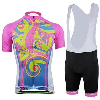 vrouwen lente zomer en herfst stijl kleur zwart met korte mouwen fietsen bib pakken met pocket - EUR € 34.38
