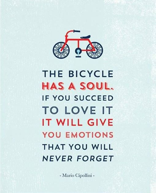 The bicycle has a soul. @tonikcycling - La bicicleta tiene un alma. Si tienes éxito en amarla, te dará emociones que nunca olvidarás.