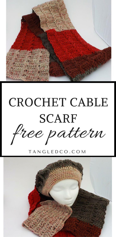 Mejores 9 imágenes de Crochet scarves en Pinterest | Crochet bufanda ...