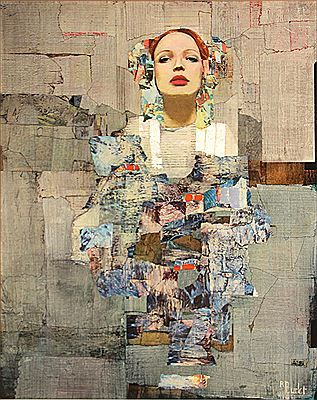 """Richard Burlet (1957-Present) Considered an abstract-figurative artist, Richard Burlet creates paintings born of an inspiration that is French by inclination and Viennese by influence. The complex imagery of Burlet's figurative paintings pays homage to a tradition in art that reigned supreme in Vienna in the late 1800s. The art, architecture and design of Vienna's """"Golden Age"""", and the highly praised works of Gustav Klimt, are the greatest influences on Burlet's artwork."""