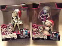 2 Monster High Christmas Tree Onaments Holiday Abbey & Frankie Stein Decoration