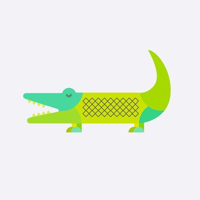 61/100: alligator #the100dayproject #100daysofcolorfulanimals #illustration #alligator