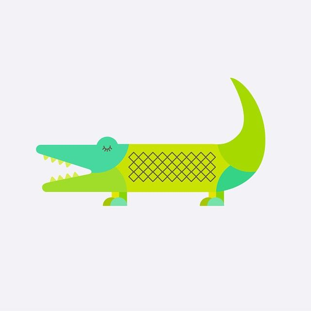 61/100: alligator #the100dayproject #100daysofcolorfulanimals #illustration #alligator